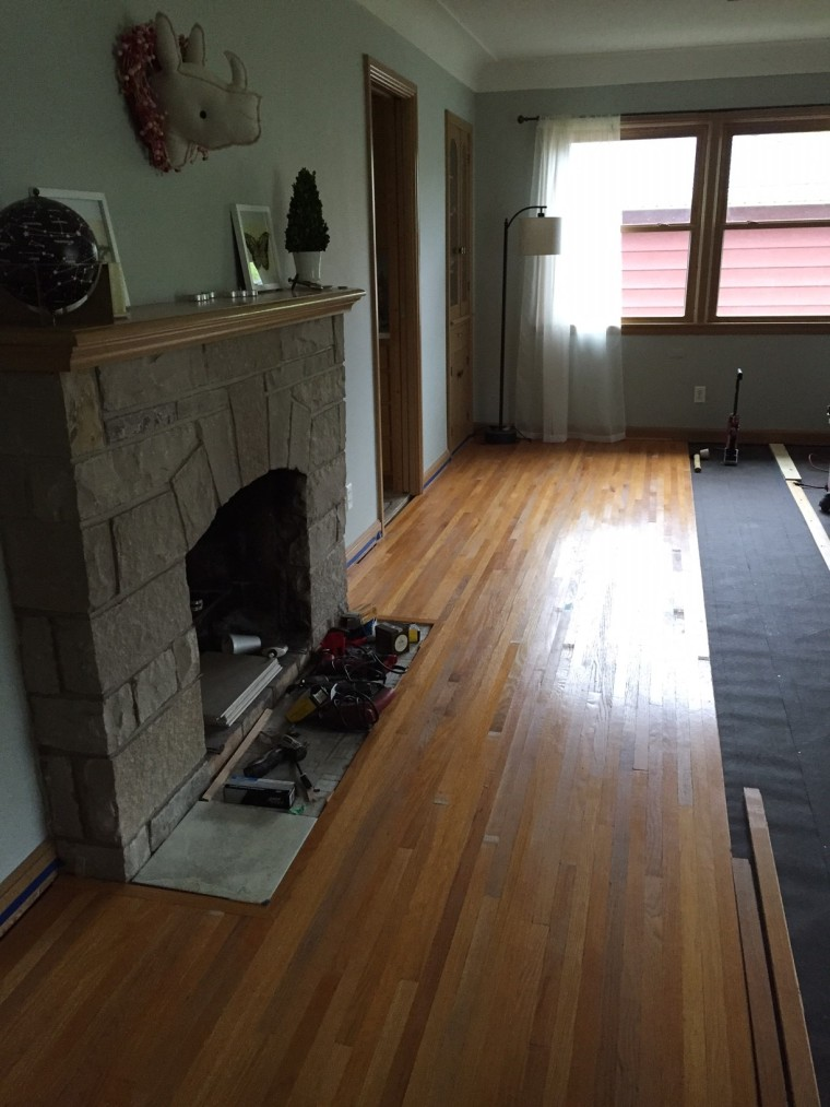 Installing Vintage Hardwood Floors | Style and the Suburbs