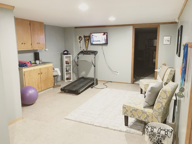 Home Gym Basement Remodel | Style and the Suburbs