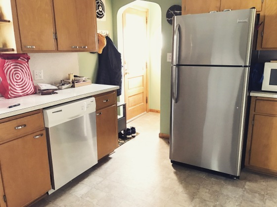 Faux Stainless Steel Appliance Hack | Style and the Suburbs