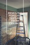 Removing Popcorn Texture from Ceilings | Style and the Suburbs
