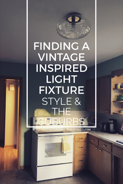 Finding a Vintage Inspired Mid-Century Light Fixture | Style & the Suburbs