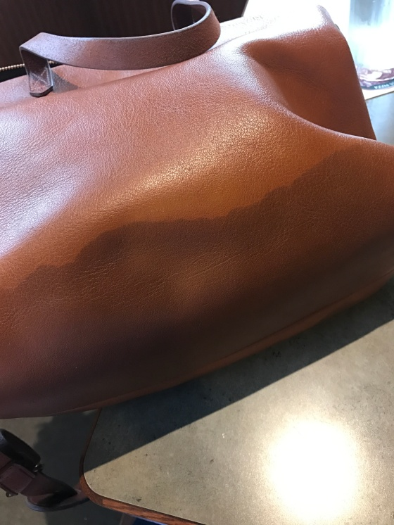 Removing a Water Stain from a Leather Madewell Bag | Style & the Suburbs