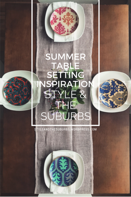 Summer Table Setting Inspiration | Style & the Suburbs
