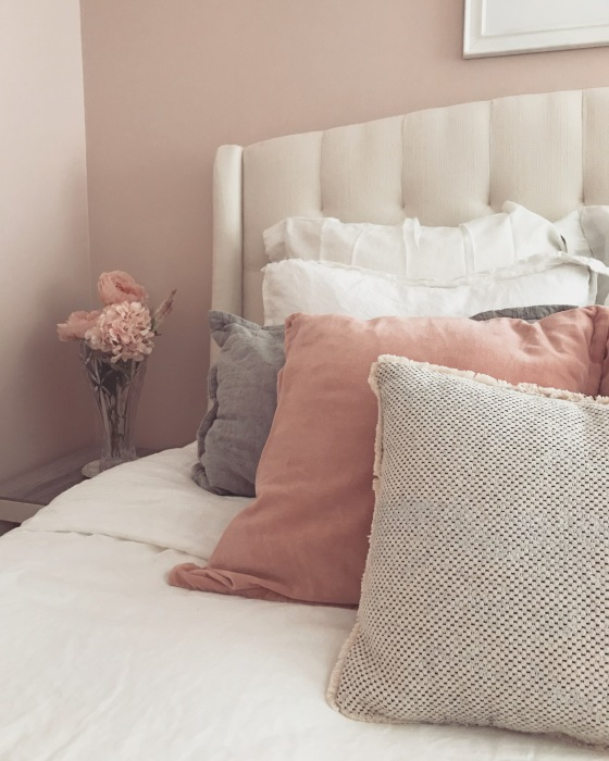 Feminine Soft Pink Bedroom Makeover | Style & the Suburbs