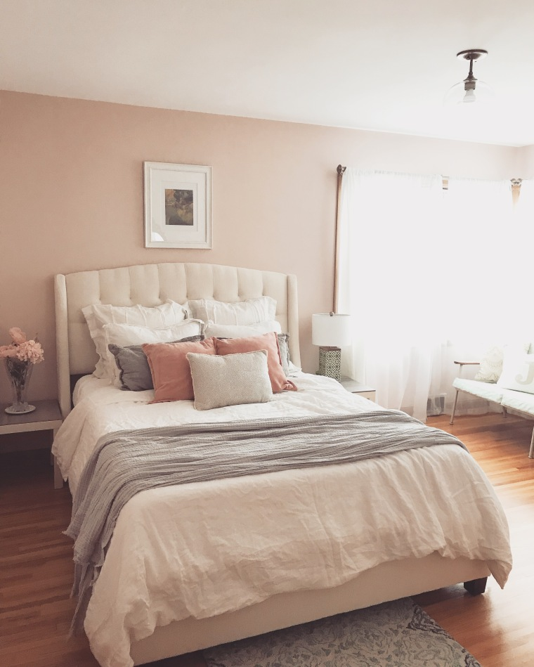 Feminine Pink Bedroom Reveal | Style & the Suburbs