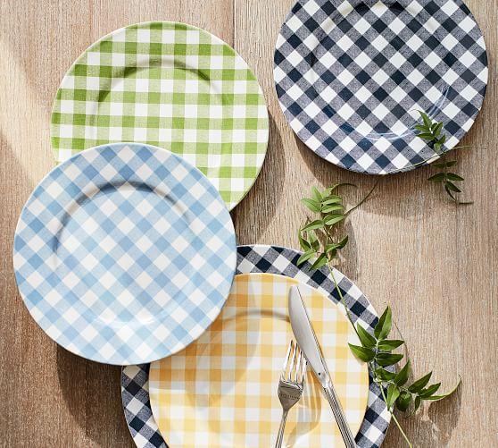 gingham-salad-plate-set-of-4-green-c