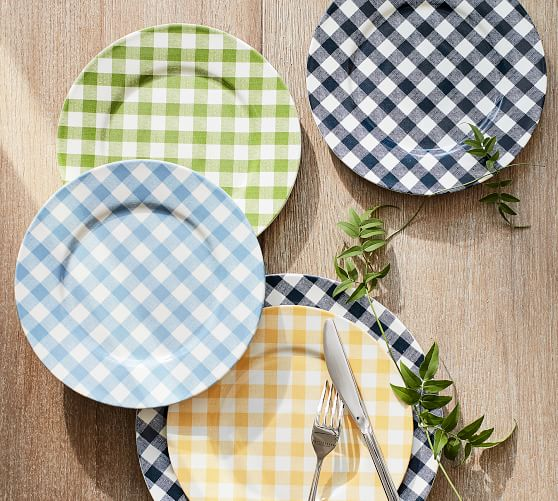 gingham-salad-plate-set-of-4-green-c