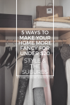 5 Ways to Make Your Home More Fancy For Under $20 | Style & the Suburbs