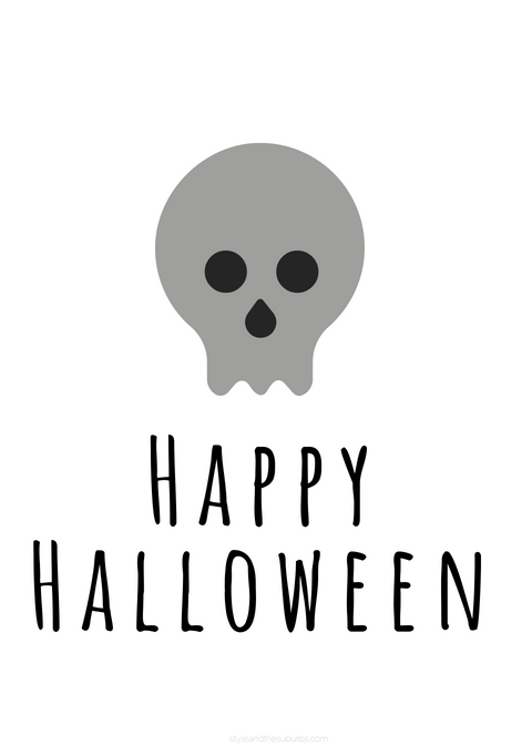 Free Halloween Printables | Style & the Suburbs