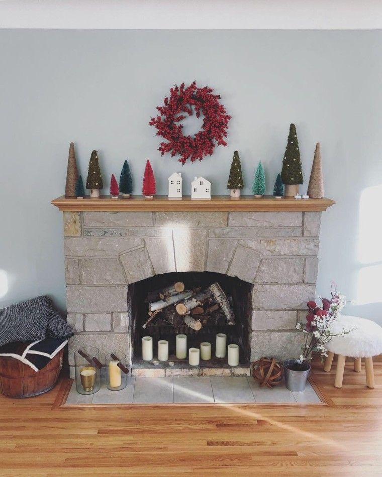 Winter Treescape Mantle | Style & the Suburbs