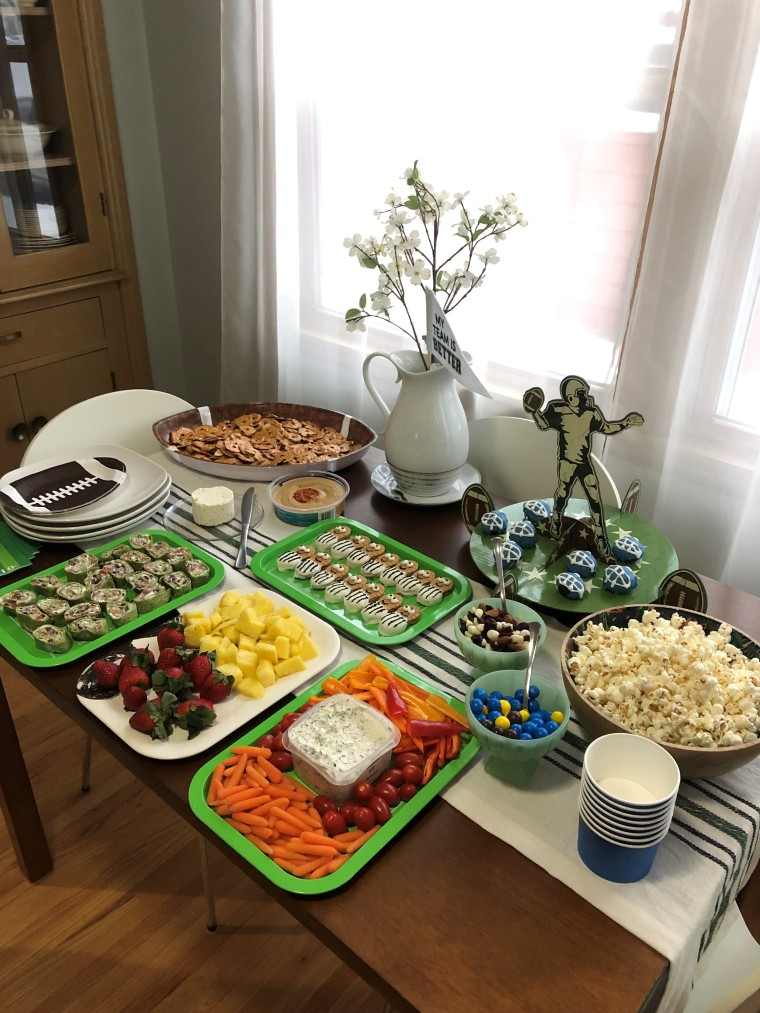 Football Themed Superbowl Party Inspo | Style & the Suburbs
