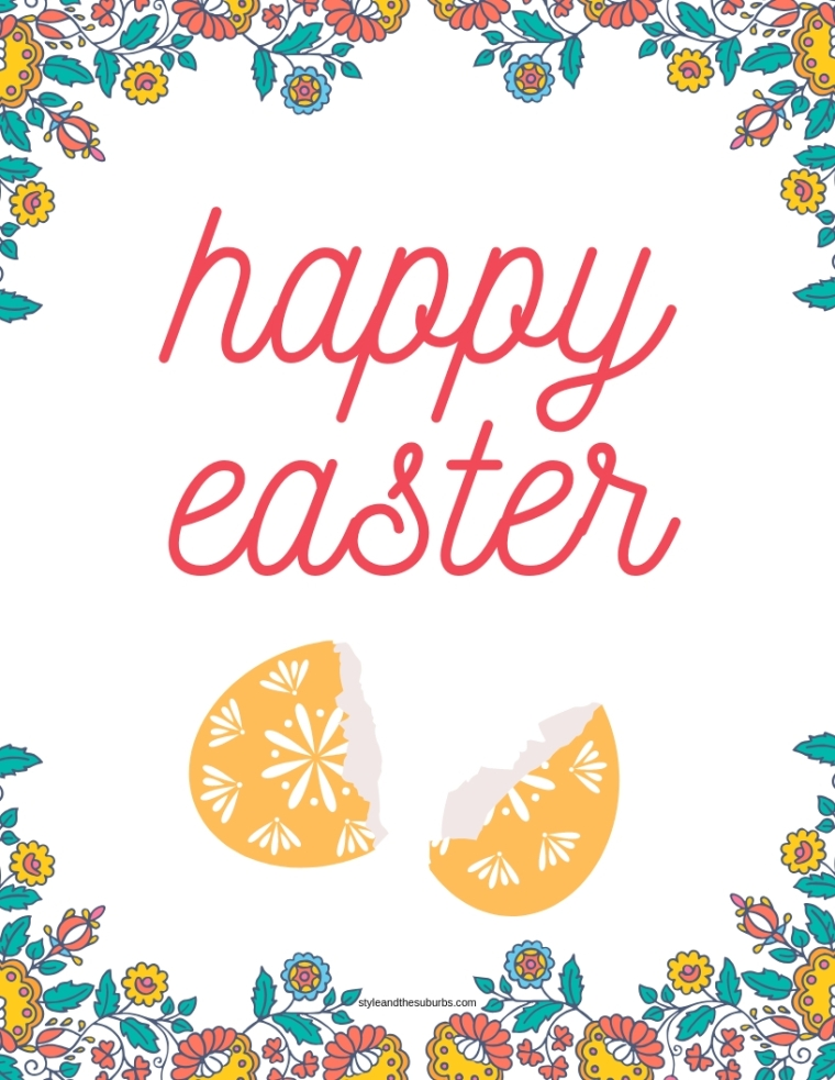 Free Spring and Easter Printables | Style & the Suburbs
