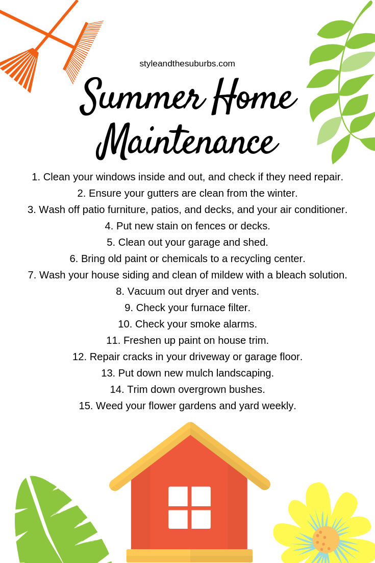 15 Summer Home Maintenance Must Do's | Style & the Suburbs