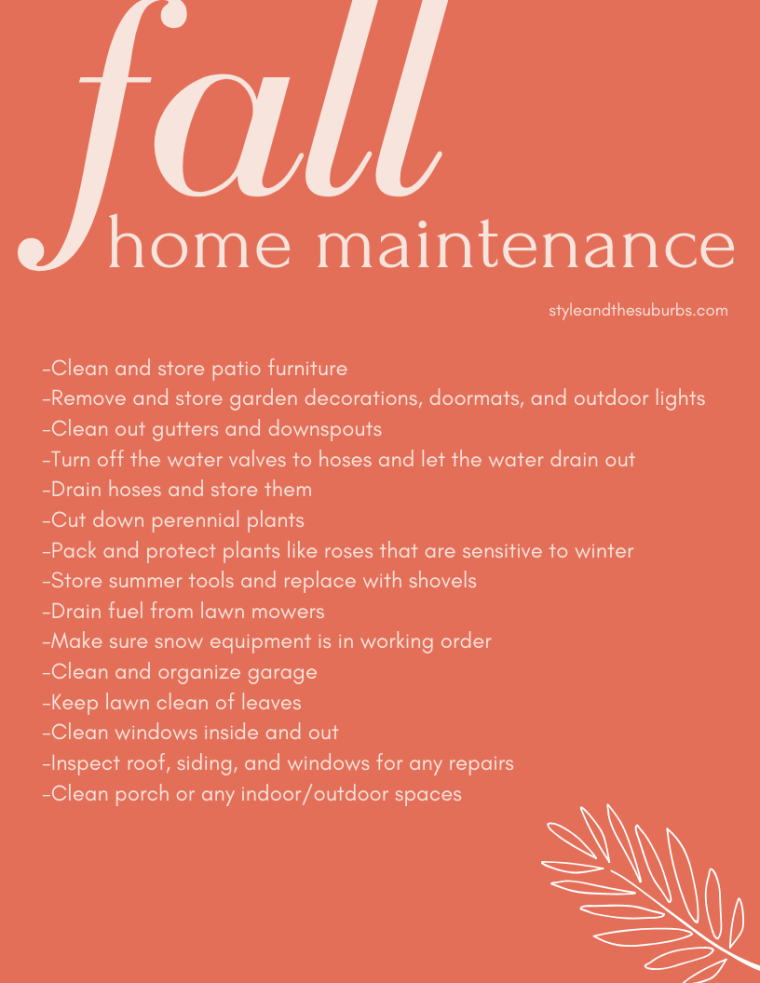 Fall Home Maintenance | Style & the Suburbs