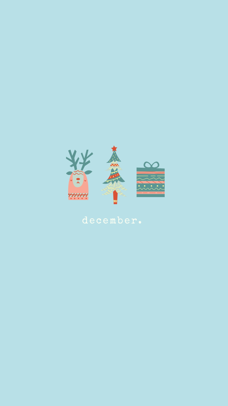 FREE Festive December Backgrounds | Style & the Suburbs