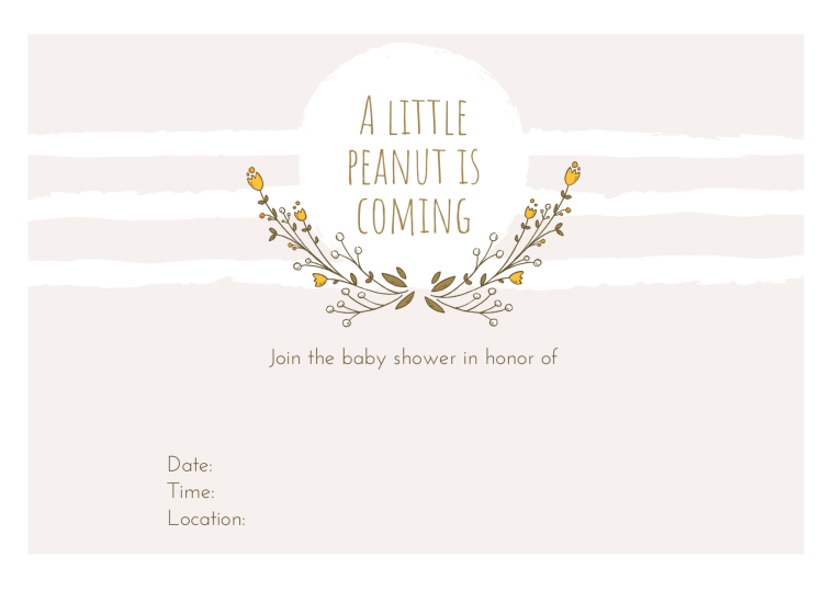 Free Gender Neutral Baby Shower Printables Invitation | Style & the Suburbs