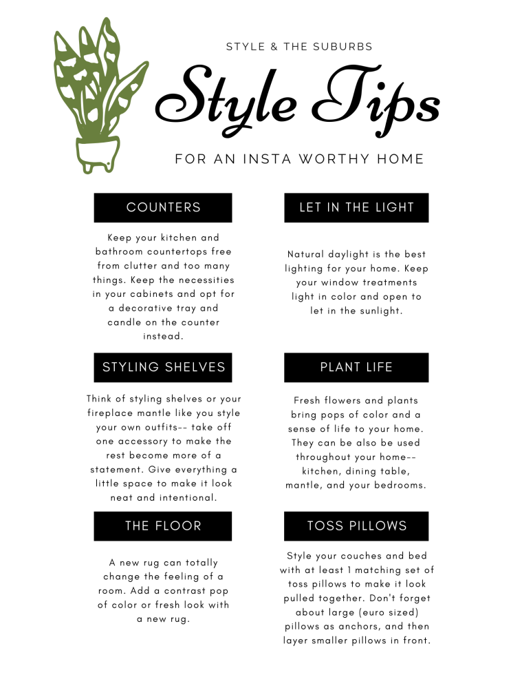 Style Tips for an Insta Worthy Home   Style & the Subrubs