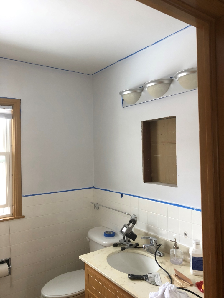 Bathroom Remodel: New Walls | Style & the Suburbs