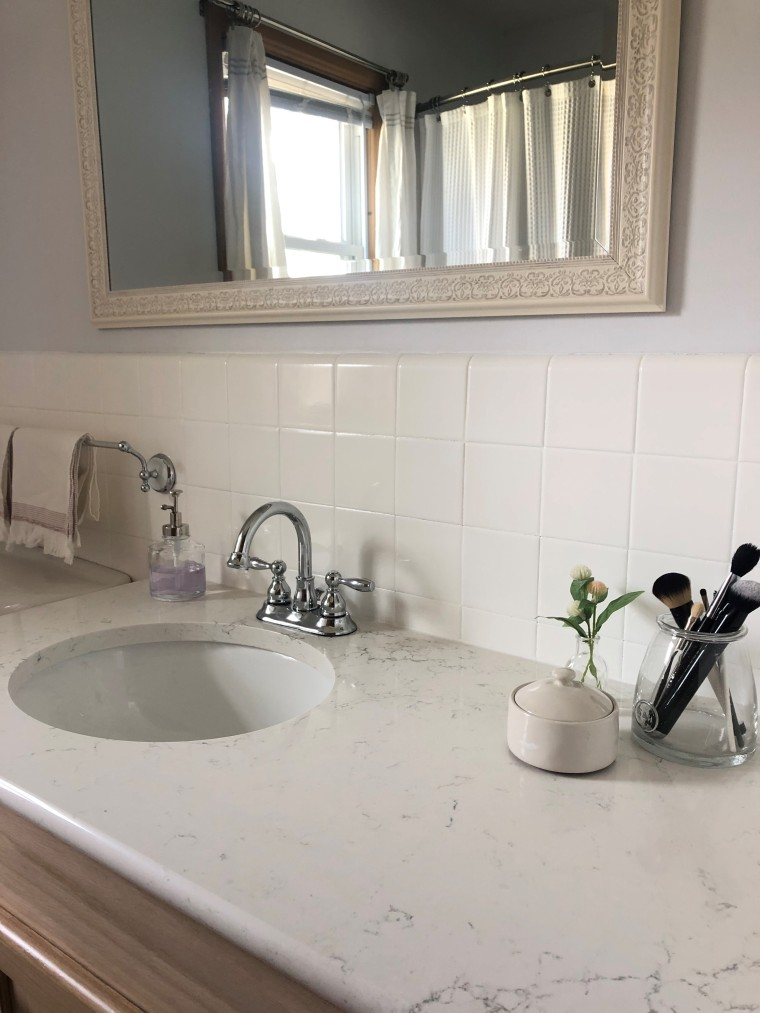 Installing a New Bathroom Vanity | Style & the Suburbs