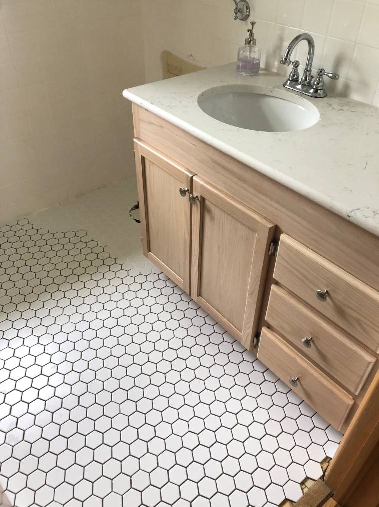 Tiling Over an Existing Tile Floor | Style & the Suburbs