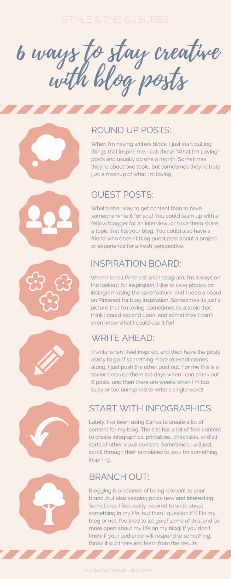 6 Ways to Stay Creative with Blog Posts | Style & the Suburbs